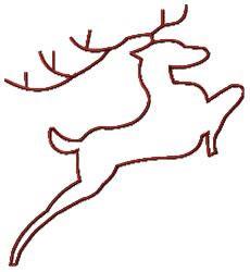 Reindeer - Large embroidery design