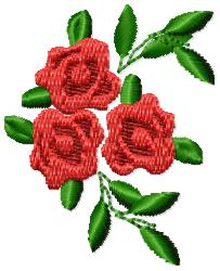 Roses embroidery design