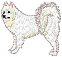 Samoyed Dog embroidery design