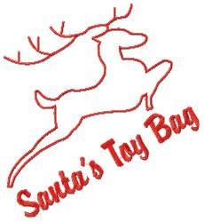 Santas Toy Bag embroidery design