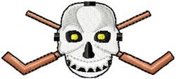 Hockey Mask & Sticks Large embroidery design