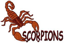 Scorpions Mascot embroidery design