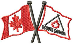 Scouts Canada Flag embroidery design
