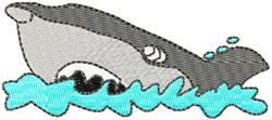 Shark embroidery design
