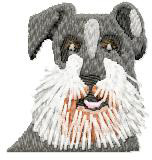Schnauzer Dog embroidery design
