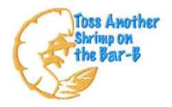 Shrimp on the Bar-B embroidery design