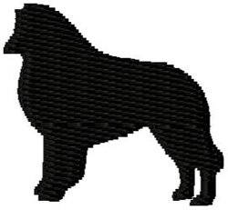 Belgian Tervuren Dog Silhouette embroidery design
