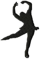 Figure Skater embroidery design