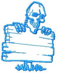 Skeleton Sign embroidery design