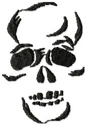 Skeleton Face embroidery design
