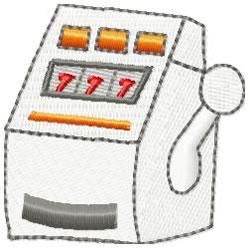 Slot Machine- large embroidery design