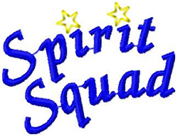 Spirit Squad embroidery design