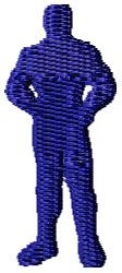 Man Standing embroidery design