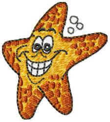 Smiling Starfish embroidery design