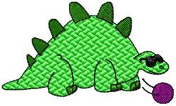 Stegasaurus Bowl embroidery design