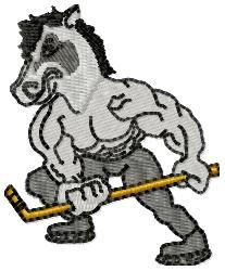Hockey Horse embroidery design