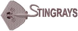 Stingrays Mascot embroidery design