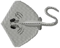 Stingray embroidery design