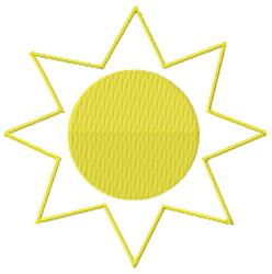 Day Sun embroidery design