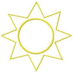 Sun Outline embroidery design