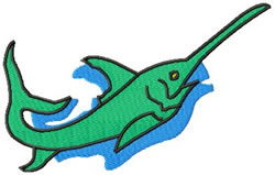Swordfish embroidery design
