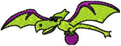 Pterodactyl bowling embroidery design