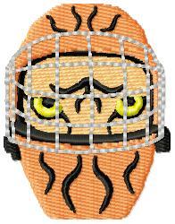 Tiger Mask embroidery design