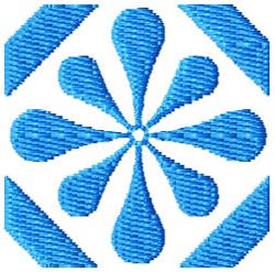 Tile 50 embroidery design