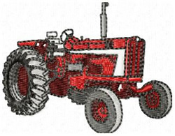 Red Tractor embroidery design