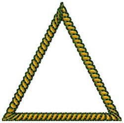 Rope Triangle Border embroidery design