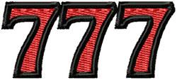 Triple 7s embroidery design