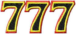 Triple 7 embroidery design