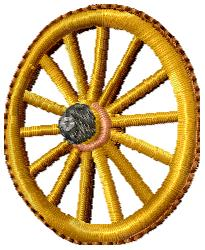 Wagon Wheel embroidery design