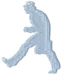 Walking Man embroidery design