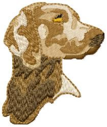 Weimer Hunting Dog embroidery design