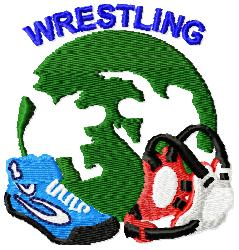Wrestling Gear embroidery design