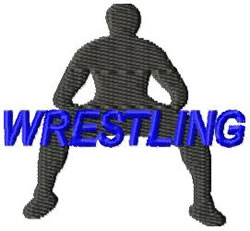 Wrestling embroidery design