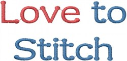 Love To Stitch embroidery design