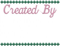 Created By embroidery design