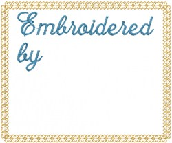 Embroidered by embroidery design