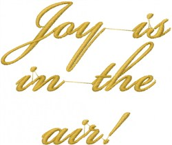 Joy In Air embroidery design