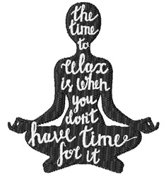 Time To Relax embroidery design