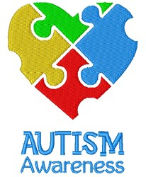 Autism Awareness embroidery design