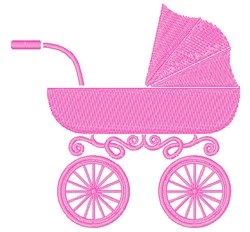 Baby Carriage embroidery design