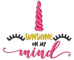 Sunshine On My Mind embroidery design