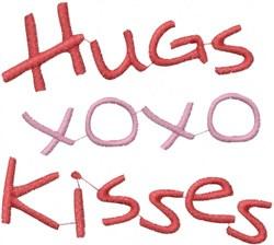 Hugs Kisses embroidery design