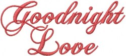 Goodnight Love embroidery design