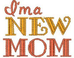 New Mom embroidery design