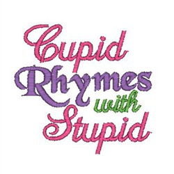 Cupid Rhymes embroidery design