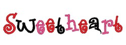 Sweetheart embroidery design